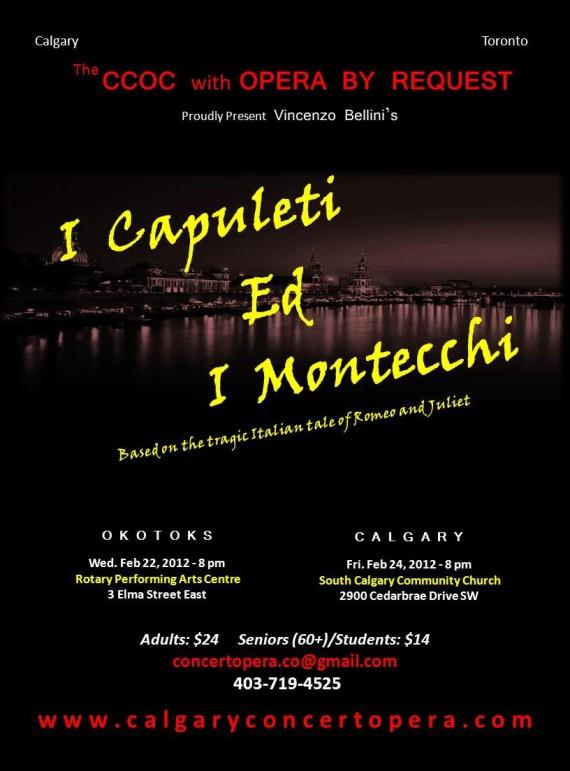 Calgary Concert opera presents Bellini's story of Romeo and